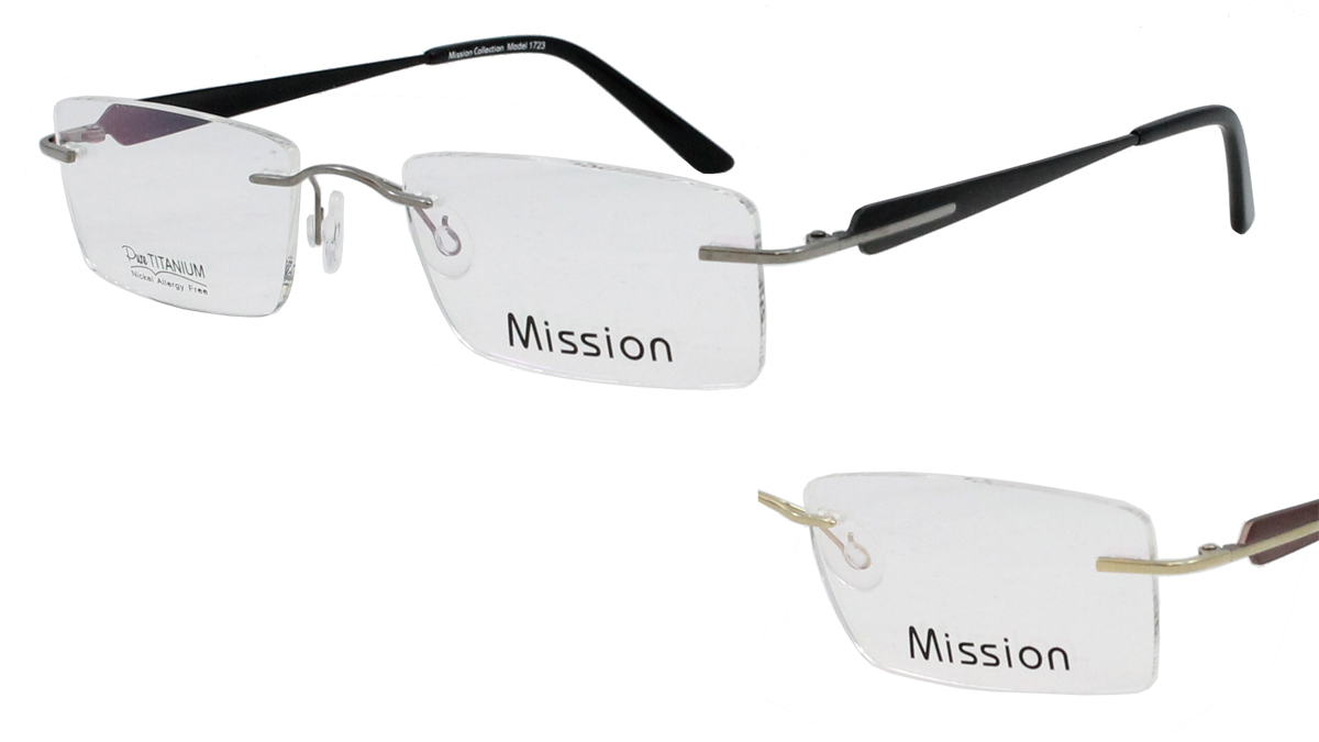 Qube Glasses Frames : Mission 1723 - Mirage Eyewear