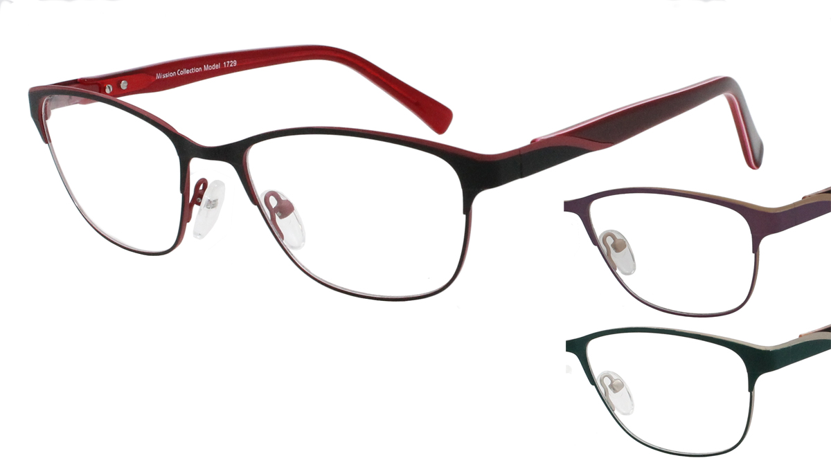 Qube Glasses Frames : Mission 1729 - Mirage Eyewear